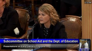 Au Gres-Sims' Successful Focus on Literacy Highlighted during Michigan House of Representatives Appropriations Subcommittee on School Aid