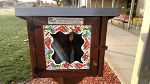 Au Gres-Sims Installs Free Little Library on Campus