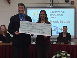 Brook Begres Named to Michigan's Innovative Educator Corps