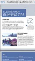 Au Gres-Sims featured in a Marathon Kids Running Club website article!