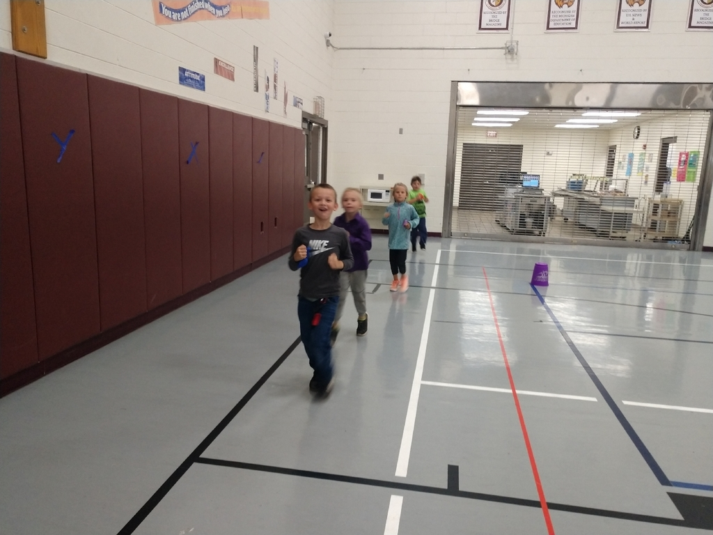 The 1st graders have been working hard and are doing awesome pacing while they jog in PE!