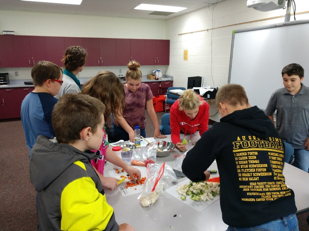 Today in 7th grade health, students prepared stir fry with one group using fresh ingredients and the other using frozen. If you see a 7th grader ask them  which one tasted best!
