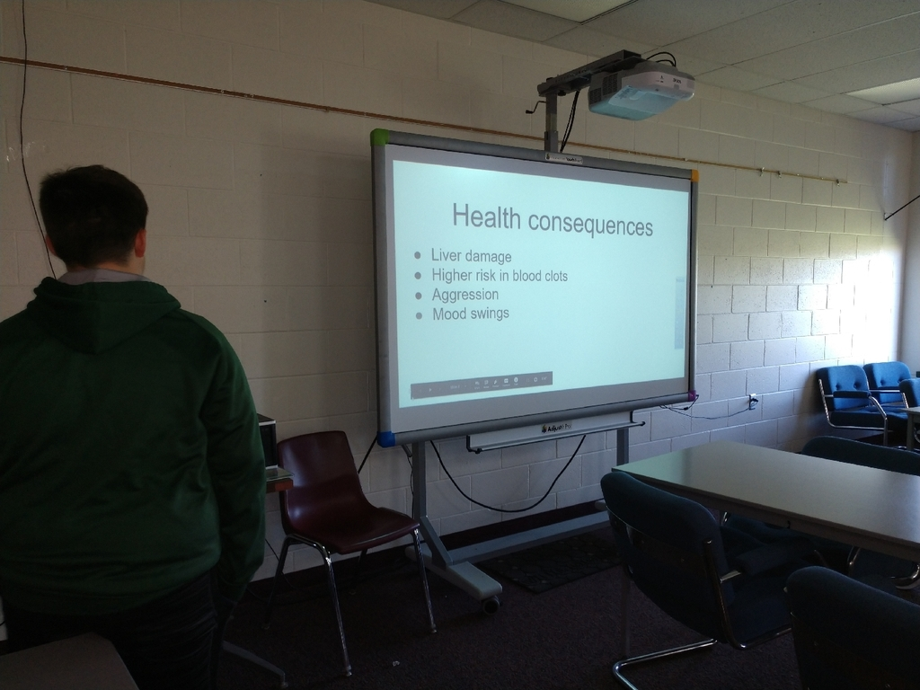 7th graders have been working hard and did a great on their drug and alcohol presentations in health