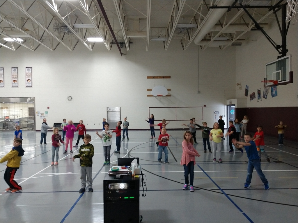 3rd, 4th, and 5th graders have been learning the turkey wobble this week!
