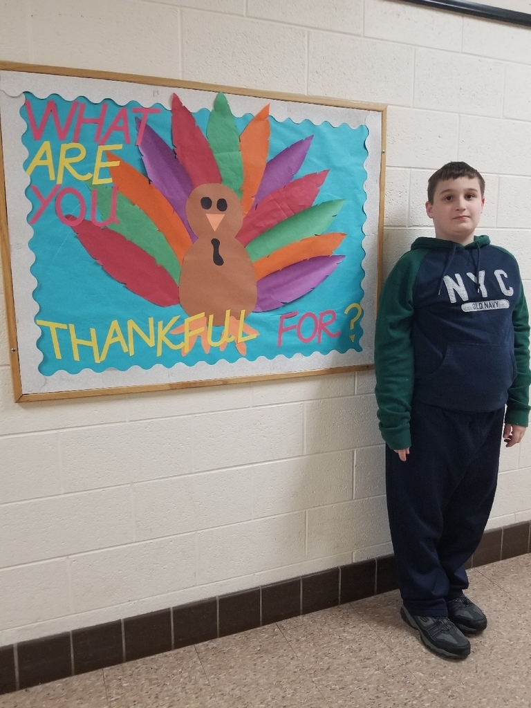 I'm thankful for my mom says this wonderful student.  #wolverineslead