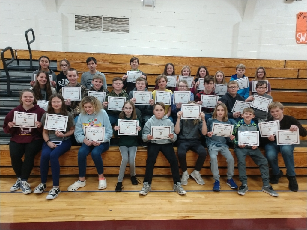 Congrats to all of the second marking period honor roll achievers!
