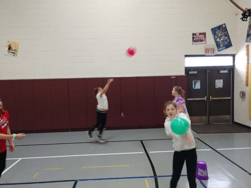 3rd-5th graders started their new  volleyball unit in PE today.