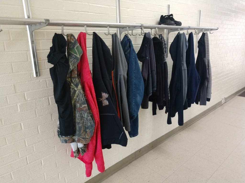 There are many items waiting to be claimed outside of the multipurpose room! Parents if your child is missing a jacket/sweatshirt ask them if they left it during PE.