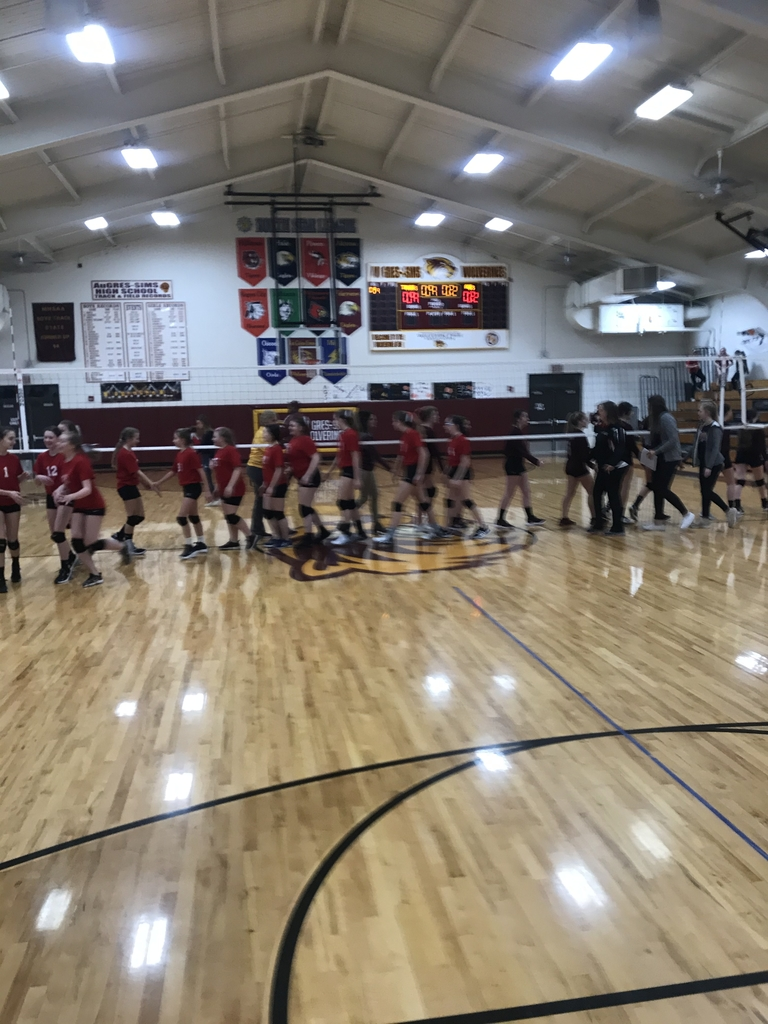 Great games tonight AGS junior high volleyball team