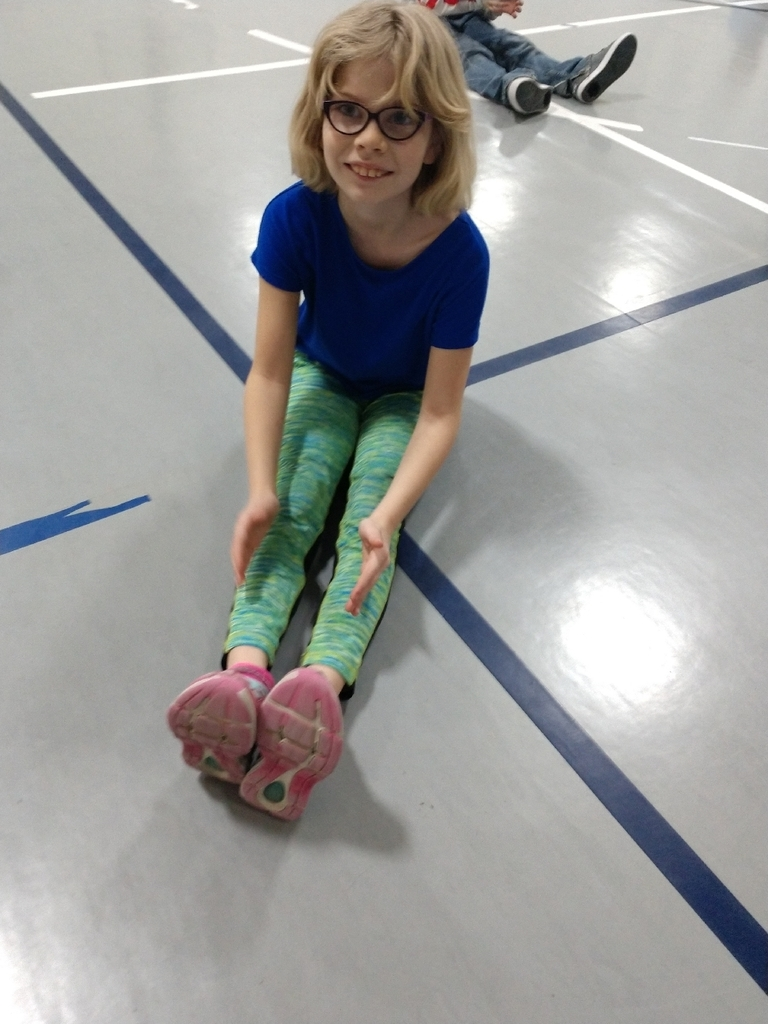 "Literacy + Movement = Lots of fun in PE! 2nd graders moved to ""The Very Hungry Caterpillar"" today in PE."