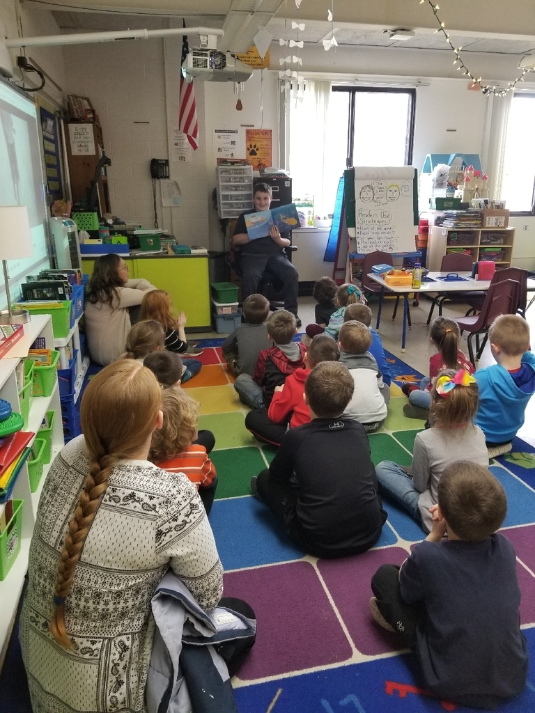 So proud of this student reading to Mrs. Heck's kindergarten class! A Great day to be a wolverine! #wolverineslead