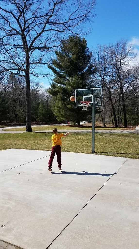 Check out Max rocking his Wolverine Wednesday gear, getting his workout it, and shooting some hoops!