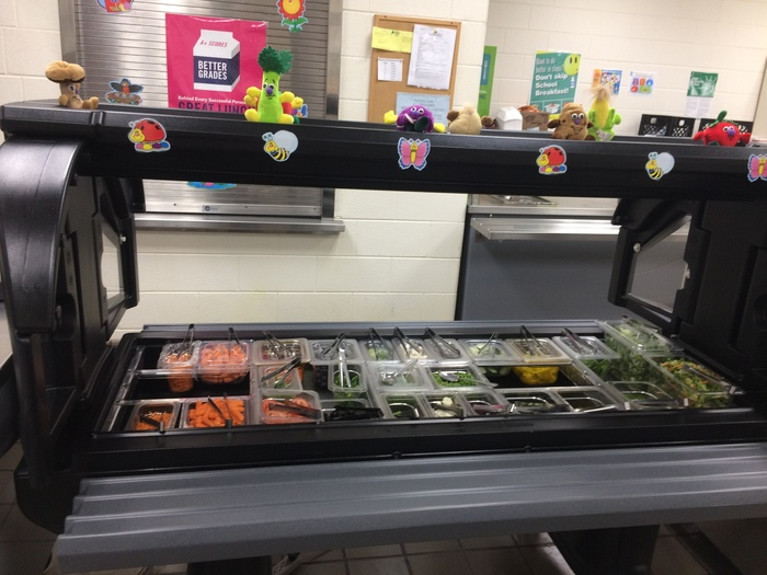 The new salad bar!!